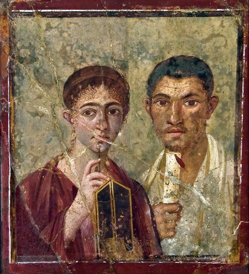Man and woman from Pompeii