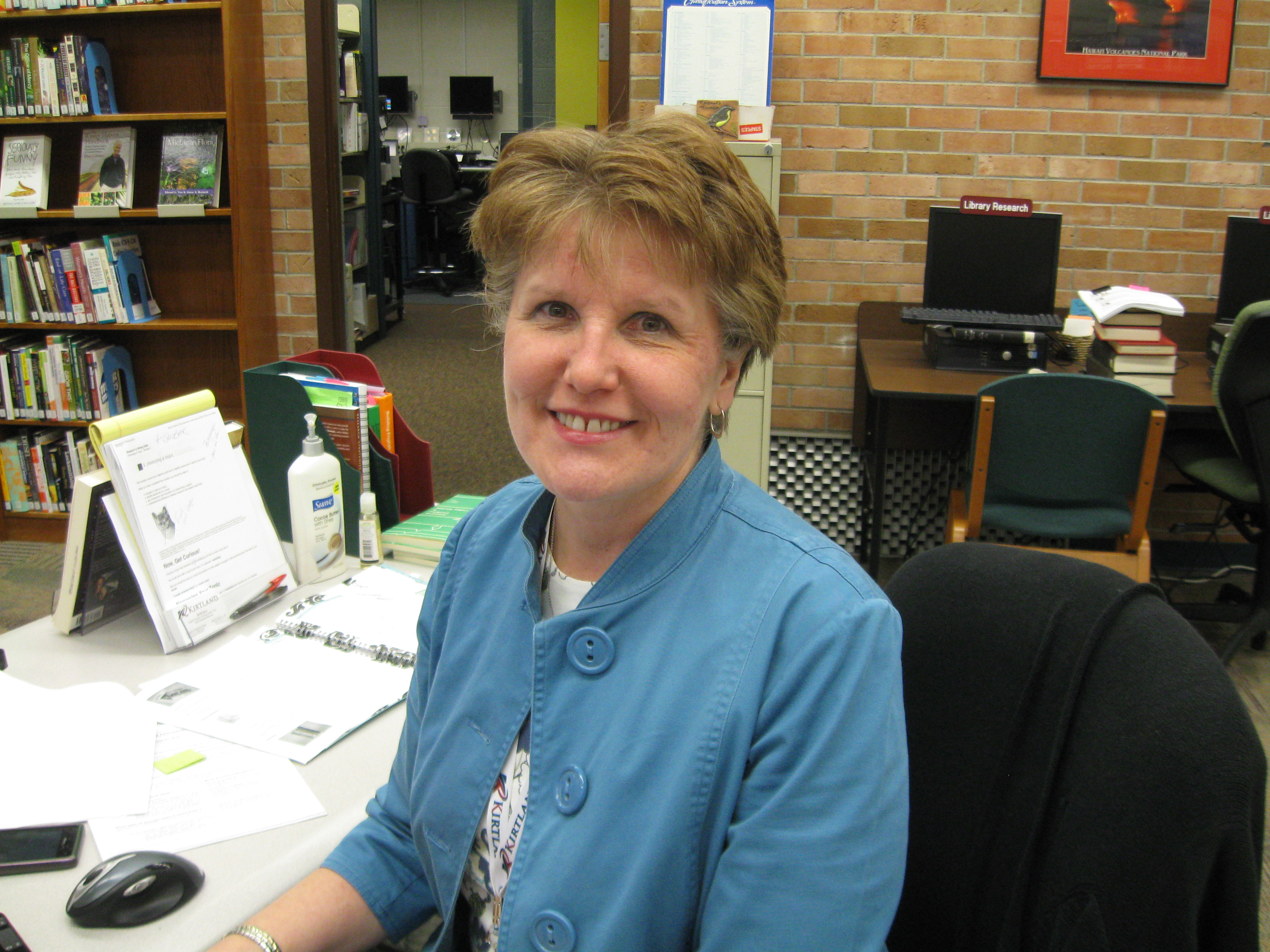 picture of Deb Shumaker, Director of Library and Tutoring.