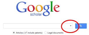 Google Scholar search page