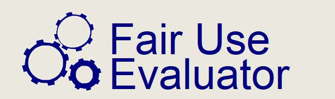 link to Fair Use Evaluator tool