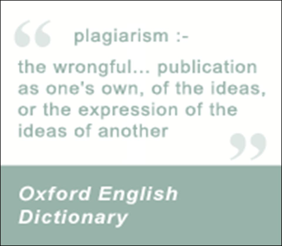 Definition of plagiarism: the wrongful publication as one's own, of the ideas, or the expression of the ideas of another.