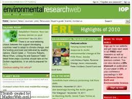 Environmental Research Web