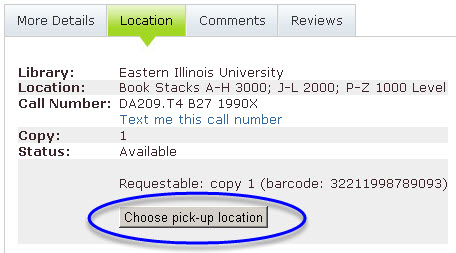 Choose  pick-up location