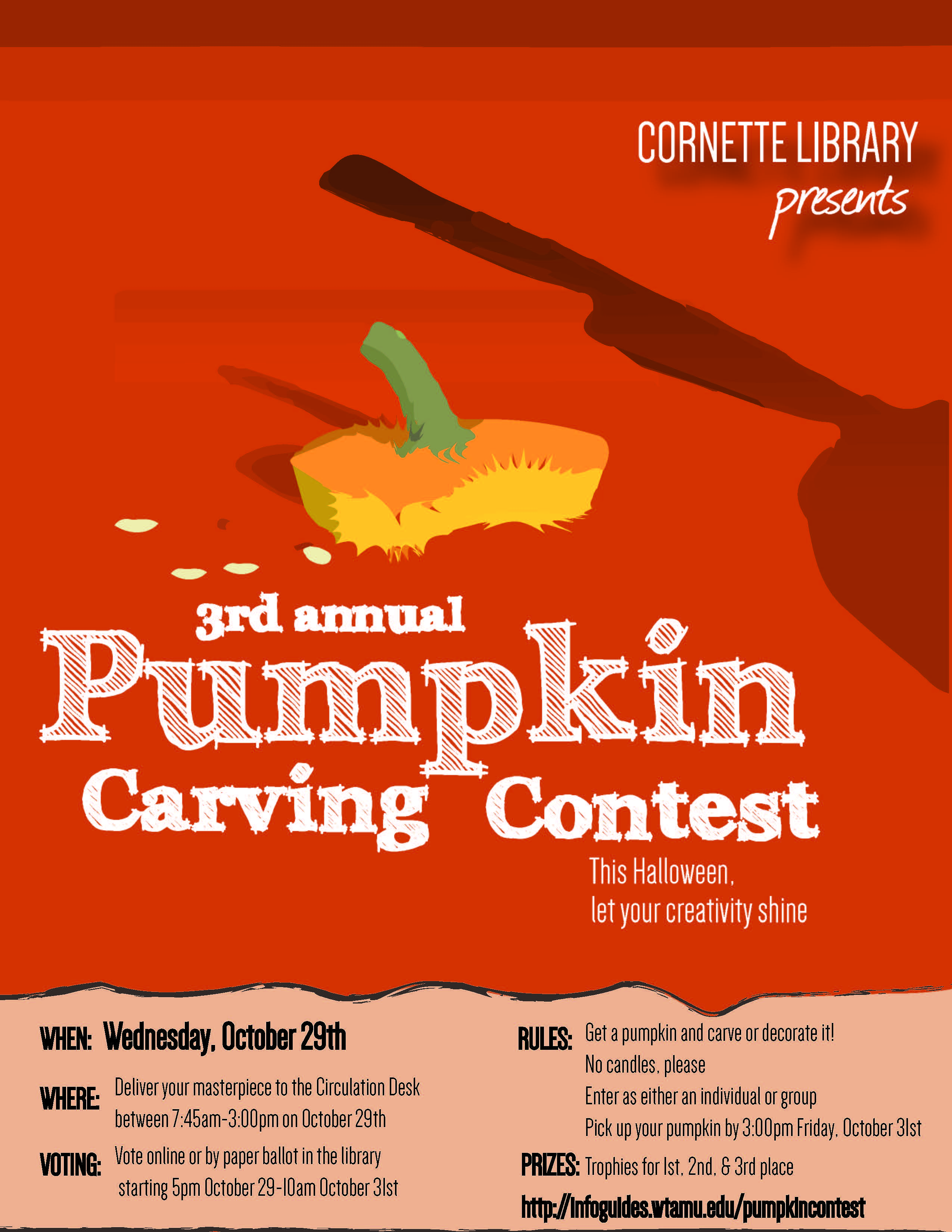 Image of pumpkin carving contest poster