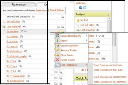 Internal duplicates- choose close or exact