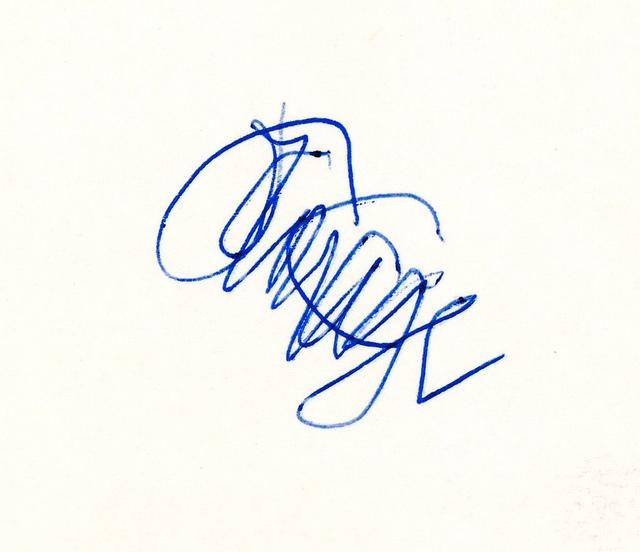 Cage autograph