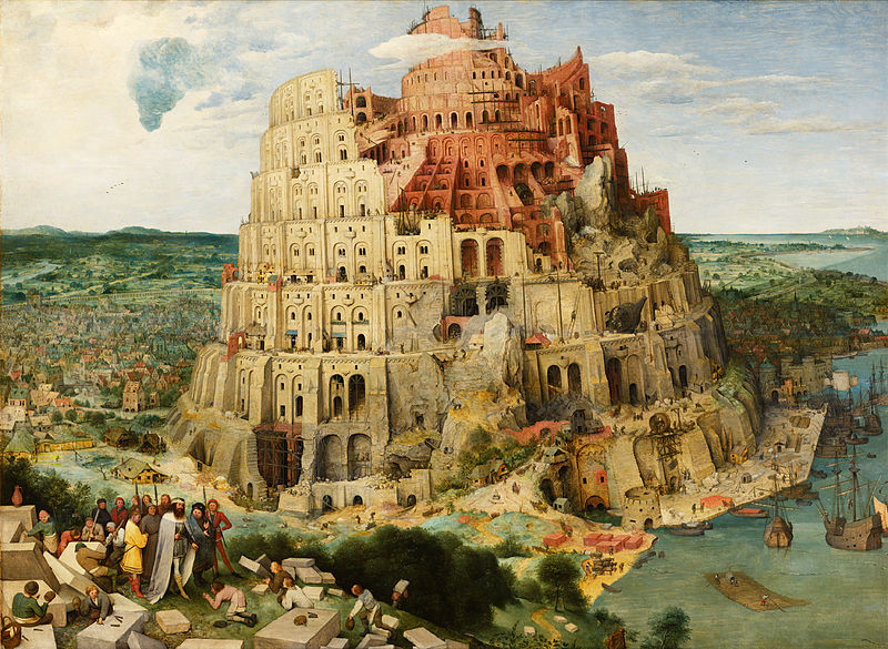 The Tower of Babel painting by Pieter Brueghel the Elder, 1563