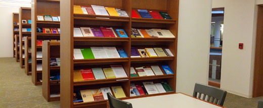 journals on shelves in the Periodical Reading Room