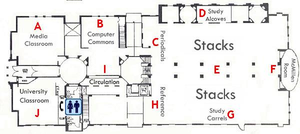 Map of Skinner Music Library