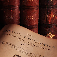 Image of an open volume of The Annual Cyclopaedia