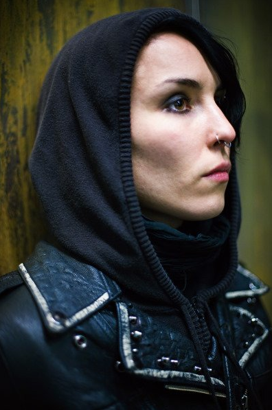Noomi Rapace as Lisbeth Salander in The Girl with the Dragon Tattoo