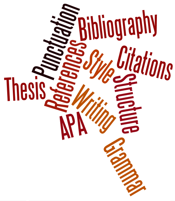writing and citation word cloud
