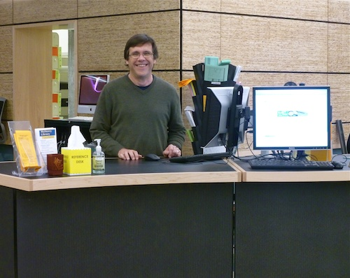 Photo of Librarian Frank Gravier at McHenry Library