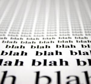Repeating text of blah, blah, blah.