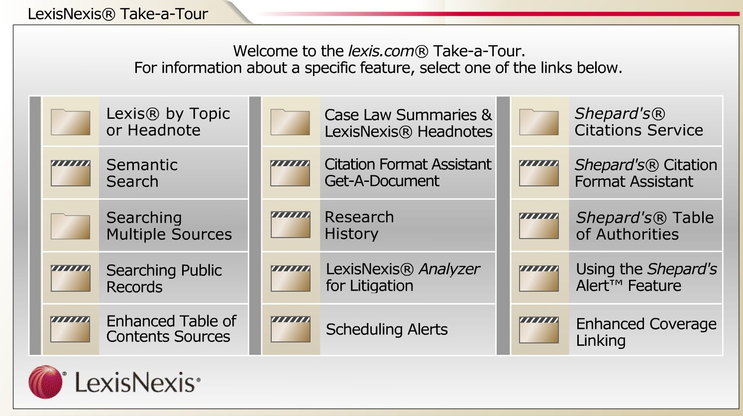 Screenshot of Tutorials page.