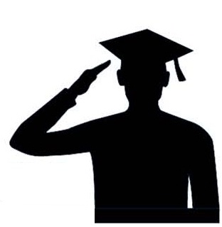profile of student saluting