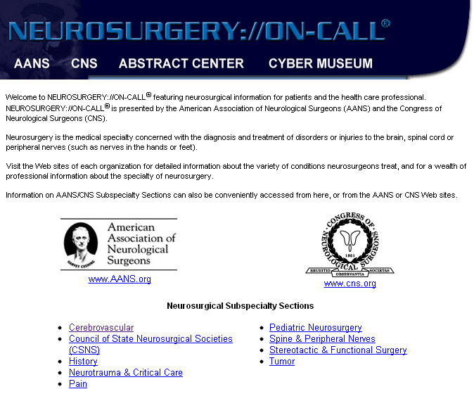Neurosurgery on call