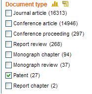 EI Patents choose document type