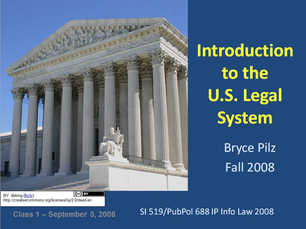 Slide Image for Introduction to the U.S. Legal System