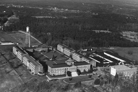 Arial view of Jones Auditorium 1949