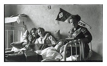 students relaxing in a dorm