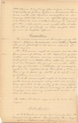 Image of original 1891 Board of Trustees Graduation Requirements Degrees document