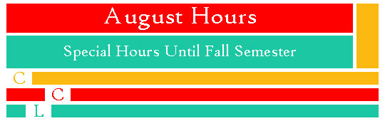 Library schedule for August 2016