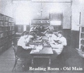 Reading Room located in Main building of Meredith's campus