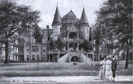 Main building of original Meredith's campus