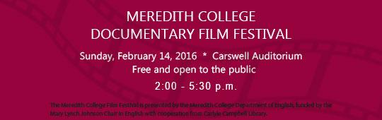 Meredith College film festival ad 2016