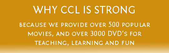 Ad for CCL Strong ideas - movies for fun and learning