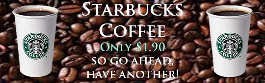 Starbucks coffee ad