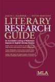 Cover of the Literary Research Guide, 2008 edition