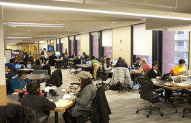 Research Commons Open Area - 5th floor