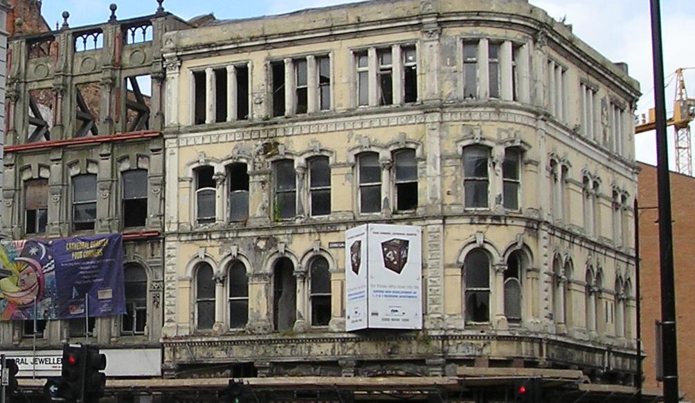 Five Corners Belfast before renovation
