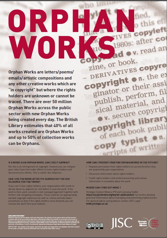 JISC Orpah Works poster