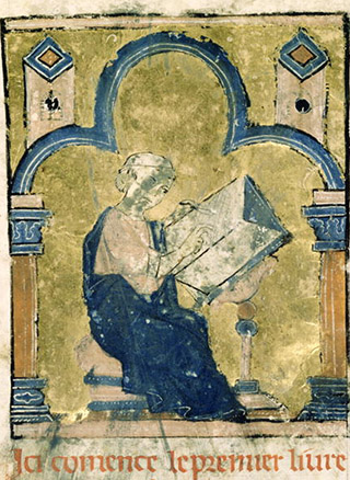 Historian William of Tyre begins his book. Bibliotheque Nationale, Paris.