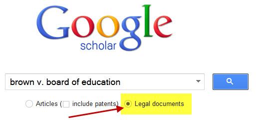Google Scholar Legal Search