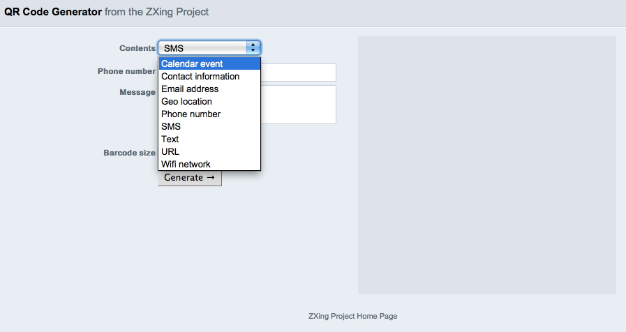 Zxing Project