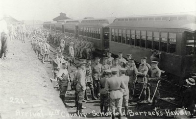 Arrival of the 4thHawaii Aviation: An Archibe of Historic Photos and Facts, Cavalry at Schofield, January 14, 1913.