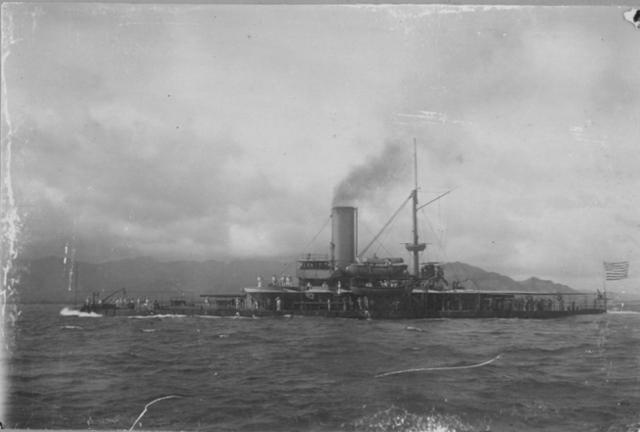 Hawai'i State Archives, Digital Collections, U.S. Navy ship off Oahu.