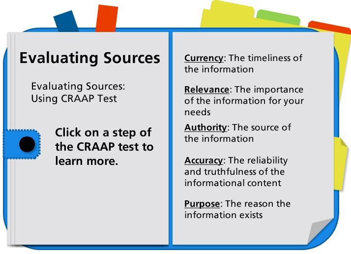 Evaluating Sources link