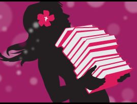 stylized figure of a girl carrying a toppling stack of books