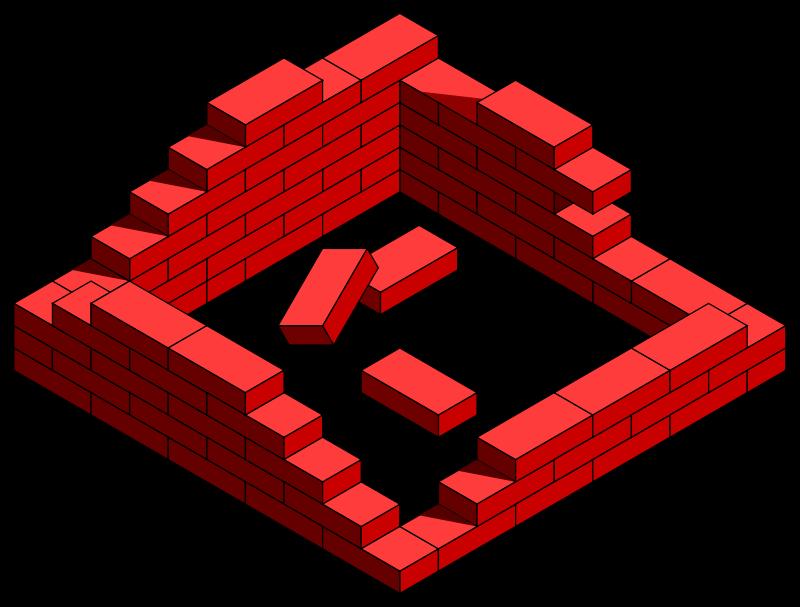 brick wall needing construction