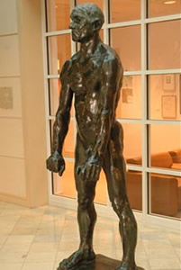 A photo of August Rodin's sculpture Jean d'Aire