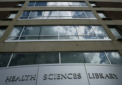 Entrance to the Health Sciences Library