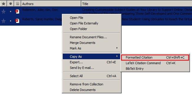 Basic CV formatting in Mendeley