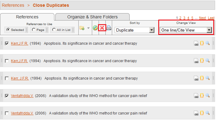 Removing duplicates in RefWorks