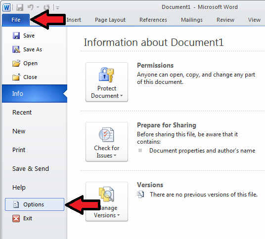 Enabling the Write-N-Cite toolbar in Microsoft Word's Options