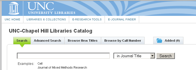 catalog search screen